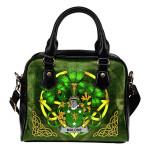 Malone or O'Malone Ireland Shoulder HandBag Celtic Shamrock   Over 1400 Crests   Bags   Premium Quality