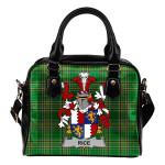 Rice Ireland Shoulder Handbag Irish National Tartan  | Over 1400 Crests | Bags | Water-Resistant PU leather