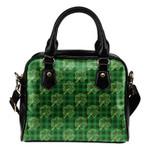 Ireland Shamrock Tartan Shoulder Handbag C1 Handbags