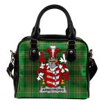 Armstrong Ireland Shoulder Handbag Irish National Tartan  | Over 1400 Crests | Bags | Water-Resistant PU leather