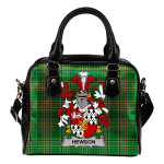 Hewson Ireland Shoulder Handbag Irish National Tartan  | Over 1400 Crests | Bags | Water-Resistant PU leather