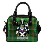 Fitz-Patrick Ireland Shoulder Handbag Irish National Tartan    Over 1400 Crests   Bags   Water-Resistant PU leather