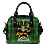 Ouseley Ireland Shoulder Handbag Irish National Tartan  | Over 1400 Crests | Bags | Water-Resistant PU leather