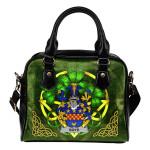 Boyd (of Danson) Ireland Shoulder HandBag Celtic Shamrock   Over 1400 Crests   Bags   Premium Quality