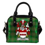 Haugh or O'Hough Ireland Shoulder Handbag Irish National Tartan  | Over 1400 Crests | Bags | Water-Resistant PU leather