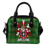 Lawder or Lauder Ireland Shoulder Handbag Irish National Tartan  | Over 1400 Crests | Bags | Water-Resistant PU leather
