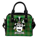 Metcalf or Metcalfe Ireland Shoulder Handbag Irish National Tartan  | Over 1400 Crests | Bags | Water-Resistant PU leather