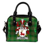 Cremin or O'Cremin Ireland Shoulder Handbag Irish National Tartan    Over 1400 Crests   Bags   Water-Resistant PU leather
