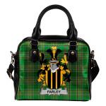 Farley or O'Farley Ireland Shoulder Handbag Irish National Tartan  | Over 1400 Crests | Bags | Water-Resistant PU leather