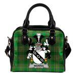 Waring Ireland Shoulder Handbag Irish National Tartan  | Over 1400 Crests | Bags | Water-Resistant PU leather