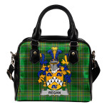 Regan or O'Regan Ireland Shoulder Handbag Irish National Tartan  | Over 1400 Crests | Bags | Water-Resistant PU leather