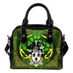 Wolfe Ireland Shoulder HandBag Celtic Shamrock | Over 1400 Crests | Bags | Premium Quality