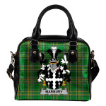 Marbury Ireland Shoulder Handbag Irish National Tartan  | Over 1400 Crests | Bags | Water-Resistant PU leather