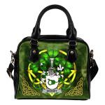 Droney or O'Droney Ireland Shoulder HandBag Celtic Shamrock   Over 1400 Crests   Bags   Premium Quality