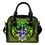 Keane or O'Cahan Ireland Shoulder HandBag Celtic Shamrock | Over 1400 Crests | Bags | Premium Quality