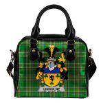 Lincolne Ireland Shoulder Handbag Irish National Tartan  | Over 1400 Crests | Bags | Water-Resistant PU leather