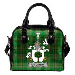 Connor or O'Connor (Faly) Ireland Shoulder Handbag Irish National Tartan  | Over 1400 Crests | Bags | Water-Resistant PU leather