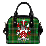 Langton Ireland Shoulder Handbag Irish National Tartan  | Over 1400 Crests | Bags | Water-Resistant PU leather