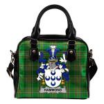 Hammond Ireland Shoulder Handbag Irish National Tartan  | Over 1400 Crests | Bags | Water-Resistant PU leather
