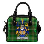 Tierney or O'Tierney Ireland Shoulder Handbag Irish National Tartan  | Over 1400 Crests | Bags | Water-Resistant PU leather