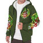 Nicholls or Nichols Ireland Sherpa Hoodie Celtic and Shamrock   Over 1400 Crests   Clothing   Apparel