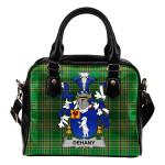 Dehany Ireland Shoulder Handbag Irish National Tartan    Over 1400 Crests   Bags   Water-Resistant PU leather