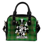 Codden or McCodden Ireland Shoulder Handbag Irish National Tartan  | Over 1400 Crests | Bags | Water-Resistant PU leather