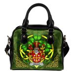 Scully or O'Scully Ireland Shoulder HandBag Celtic Shamrock | Over 1400 Crests | Bags | Premium Quality