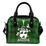 Fitz-Allen Ireland Shoulder Handbag Irish National Tartan  | Over 1400 Crests | Bags | Water-Resistant PU leather