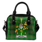 Melody or O'Moledy Ireland Shoulder Handbag Irish National Tartan  | Over 1400 Crests | Bags | Water-Resistant PU leather