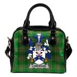 Lonergan or O'Lonergan Ireland Shoulder Handbag Irish National Tartan  | Over 1400 Crests | Bags | Water-Resistant PU leather