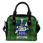 Hackett Ireland Shoulder Handbag Irish National Tartan  | Over 1400 Crests | Bags | Water-Resistant PU leather