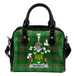 Kilkelly or Killikelly Ireland Shoulder Handbag Irish National Tartan  | Over 1400 Crests | Bags | Water-Resistant PU leather