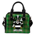 Lucey or O'Lucy Ireland Shoulder Handbag Irish National Tartan  | Over 1400 Crests | Bags | Water-Resistant PU leather