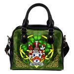 McDermot Ireland Shoulder HandBag Celtic Shamrock   Over 1400 Crests   Bags   Premium Quality