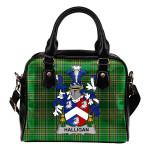 Halligan or O'Halligan Ireland Shoulder Handbag Irish National Tartan  | Over 1400 Crests | Bags | Water-Resistant PU leather