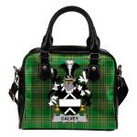 Calvey or McElwee Ireland Shoulder Handbag Irish National Tartan    Over 1400 Crests   Bags   Water-Resistant PU leather