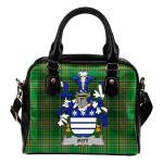 Pitt Ireland Shoulder Handbag Irish National Tartan  | Over 1400 Crests | Bags | Water-Resistant PU leather