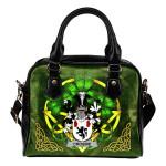 Crosbie or McCrossan Ireland Shoulder HandBag Celtic Shamrock   Over 1400 Crests   Bags   Premium Quality