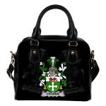 Crombie Ireland Shoulder Handbag - Irish Family Crest   Highest Quality Standard