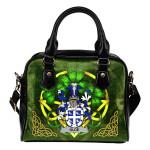 Olde Ireland Shoulder HandBag Celtic Shamrock | Over 1400 Crests | Bags | Premium Quality