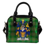 Dunn or O'Dunn Ireland Shoulder Handbag Irish National Tartan  | Over 1400 Crests | Bags | Water-Resistant PU leather