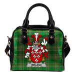 Ireland Ireland Shoulder Handbag Irish National Tartan  | Over 1400 Crests | Bags | Water-Resistant PU leather