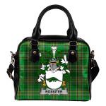 Rossiter Ireland Shoulder Handbag Irish National Tartan  | Over 1400 Crests | Bags | Water-Resistant PU leather