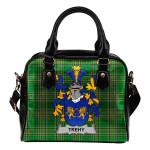 Trehy or O'Trehy Ireland Shoulder Handbag Irish National Tartan  | Over 1400 Crests | Bags | Water-Resistant PU leather