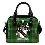 Evers Ireland Shoulder Handbag Irish National Tartan  | Over 1400 Crests | Bags | Water-Resistant PU leather