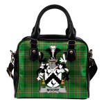Moore Ireland Shoulder Handbag Irish National Tartan  | Over 1400 Crests | Bags | Water-Resistant PU leather