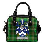 Tucker Ireland Shoulder Handbag Irish National Tartan  | Over 1400 Crests | Bags | Water-Resistant PU leather