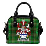 Melaghlin or O'Melaghlin Ireland Shoulder Handbag Irish National Tartan  | Over 1400 Crests | Bags | Water-Resistant PU leather