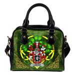Lawder or Lauder Ireland Shoulder HandBag Celtic Shamrock | Over 1400 Crests | Bags | Premium Quality